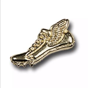 Gold finish Winged Track Cleats Metal Chenille Pin